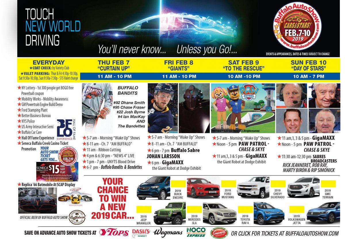 Auto Show Calendar 2019 Daily Events   Buffalo Auto Show